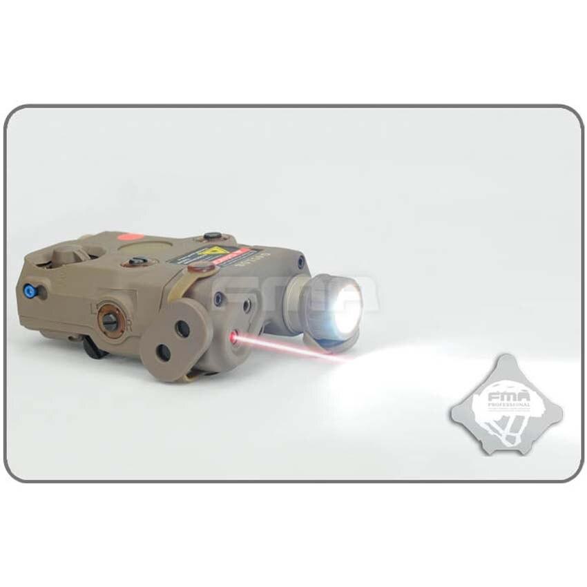 FMA nueva AN-PEQ-15 versión actualizada luz LED blanca + láser rojo con lentes IR casco táctica militar accesorios envío gratis