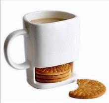 Tasse à café au lait en céramique   8 oz tasse Dunk avec porte-poche à biscuits