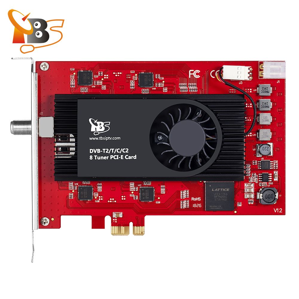 TBS6209 8 موالف DVB-T2 C2 T C ISDB-T بطاقة PCIe للعيش HD/SD كابل أرضي قنوات تلفزيون FTA