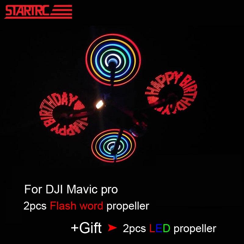 STARTRC DJI Mavic برو 8331 منخفضة الضوضاء سريعة الإبداعية فلاش كلمة LED المروحة DIY برمجة ل dji mavic ملحقات طائرة بدون طيار