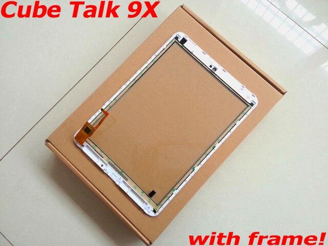 Pantalla táctil de 9,7 pulgadas para Cube Talk 9X U65GT pantalla táctil blanca de cristal digitalizador con marco