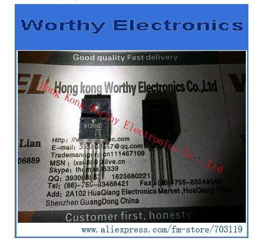 Darmowa wysyłka 10 sztuk/partia TK12A50D K12A50D MOSFET N-CH 500 V 12A TO-220SIS