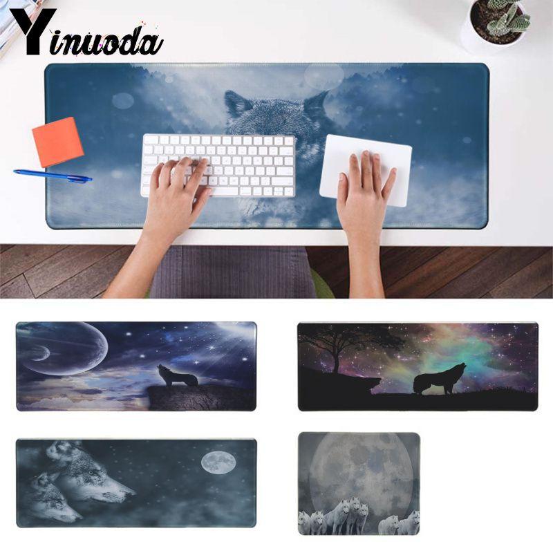 Yinuoda, Torso de luz de luna de alta calidad, alfombrilla cómoda para ratón, alfombrilla para juegos alfombrilla de ratón Gaming de ordenador Los mejores tapetes para regalo de Jugador