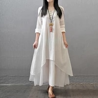 tvvovvin 2020 spring autumn woman for long shirt plus size linen pullover ruffles loose casual vintage women blouse 5xl q290