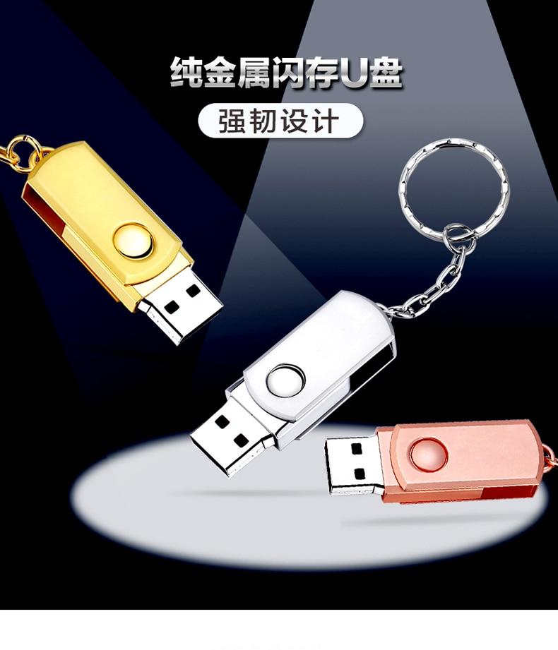 Caliente USB 2,0 Flash Drive 32GB 64GB 128GB Pen Drive 16GB 8GB de memoria de Metal diseño clásico USB Gadget Franqueo exento