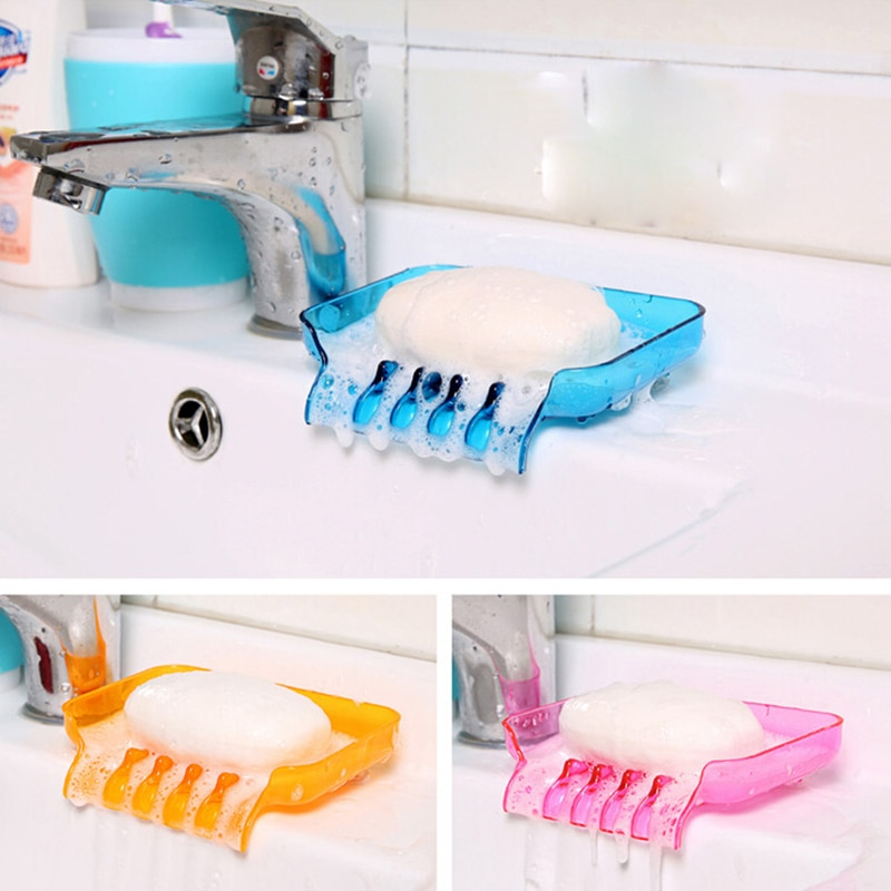 Bathroom Accessories Plastic Soap Holder Creative Soap Dish Storage Soapbox Kitchen Gadget container Bath Goods Kit Banheiro