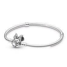 AIFEILI New Bracelet European Style Snake Chain Fit Women DIY Charm Bracelets Jewelry Quality Vintage  Fine Mickey
