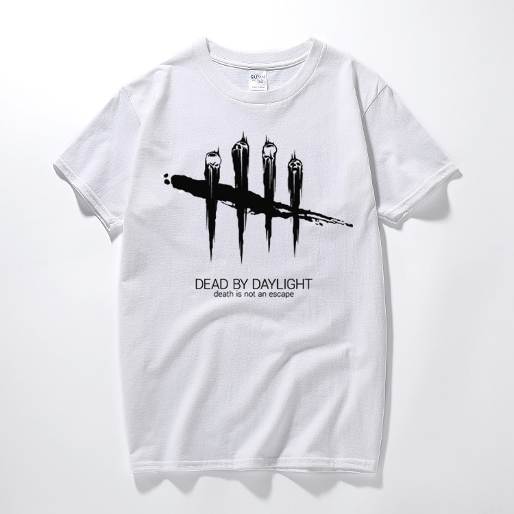 Мужская черно-белая полосатая футболка Dead By Daylight с коротким рукавом 2018