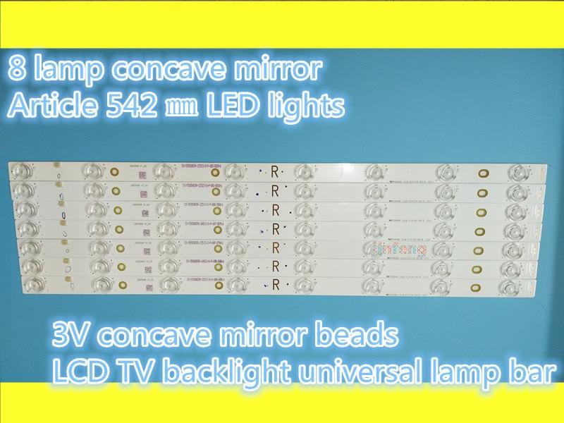 100% new8 lámpara cóncava espejo 542 mm LCD TV retroiluminación barra lámpara LED cóncava perla difusa reflexión TV 3V8 lámpara Cristal líquido la