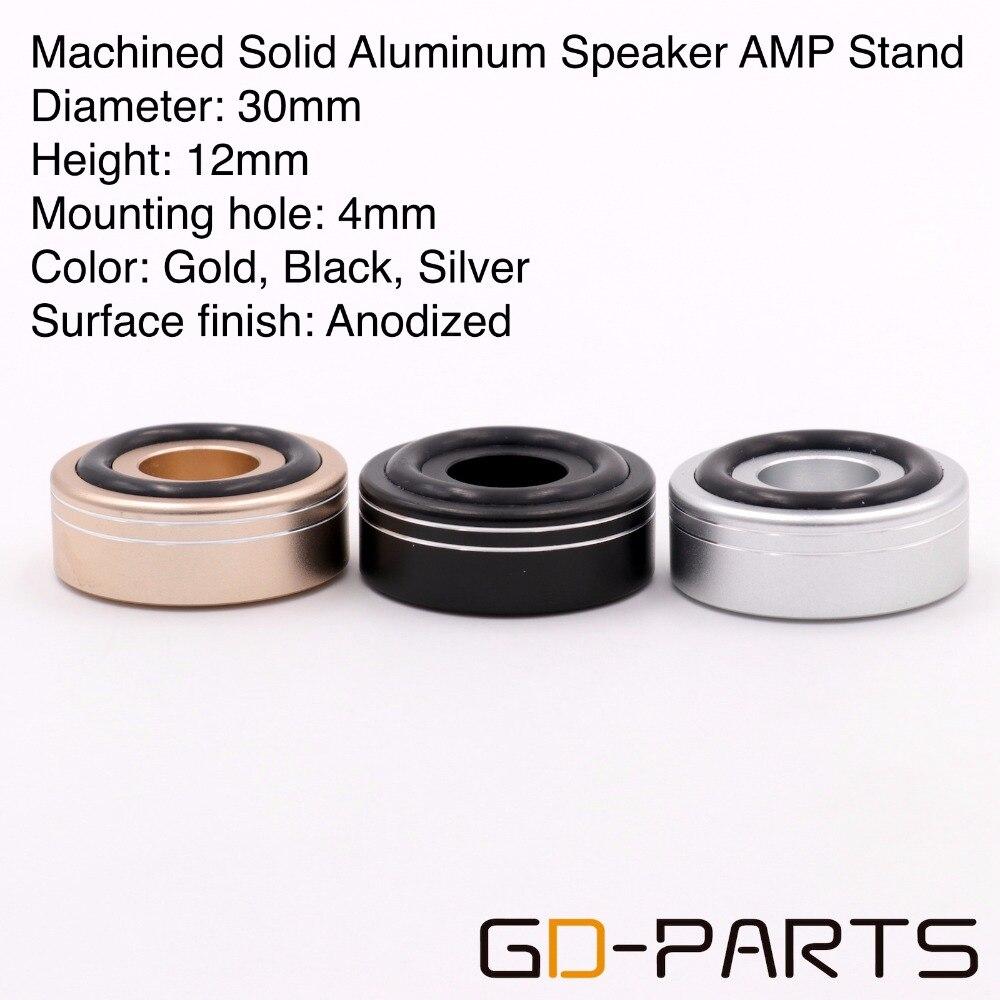 30mm * 12 milímetros Usinadas De Alumínio Completa Speaker AMP Isolamento Pé Pico Base de Piso Pad Fique Cone Úmido Para de alta fidelidade de Áudio Rádio CD DAC 1 PC