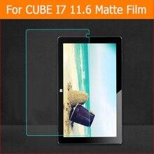 Meilleure qualité anti-éblouissement mat film de protection pour cube i7 11.6 pouces tablette avant Anti-empreinte digitale écran protecteur film + outils