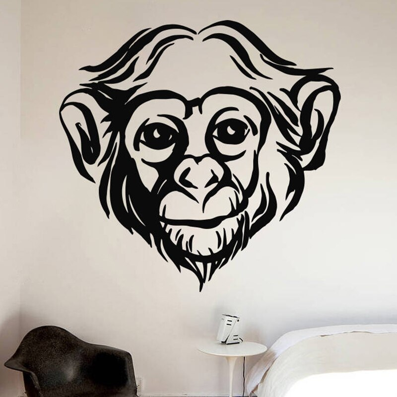 Hand made Monkey Bedroom Wall Sticker Decals Mural Jungle Nursery Monkey Kid Room Decoartion Home Decor A3-012