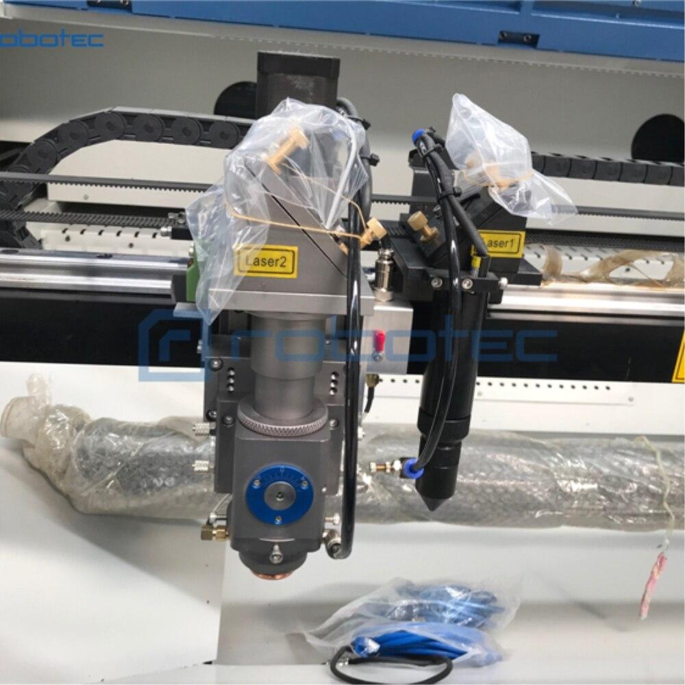 Metal y no Metal cnc acrílico patrones grabador láser 1390/150w cabezas dobles Máquina De Corte Por Láser con enfoque automático en vivo