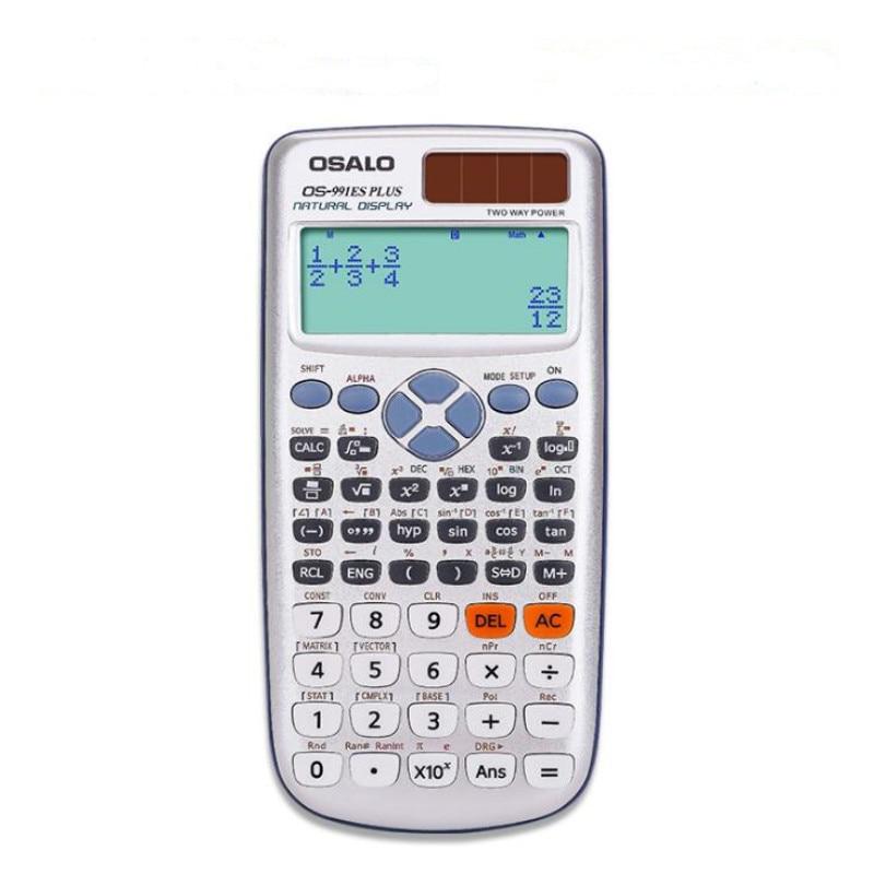 OS-991ES بالإضافة إلى البيئية غيابك العلوم حاسبة الطاقة الشمسية 417 أنواع من الآلات الحاسبة وظيفة الطالب متعددة الوظائف