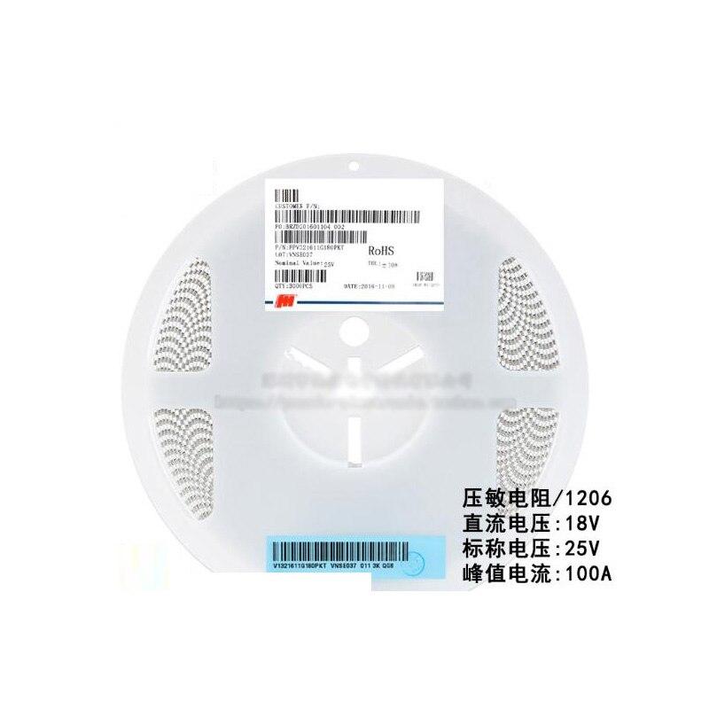 50 шт./лот SMD 1206 резистор напряжения, VDR DC 18 В номинальное напряжение 25 в FPV321611G180PKT Варистор Резистор