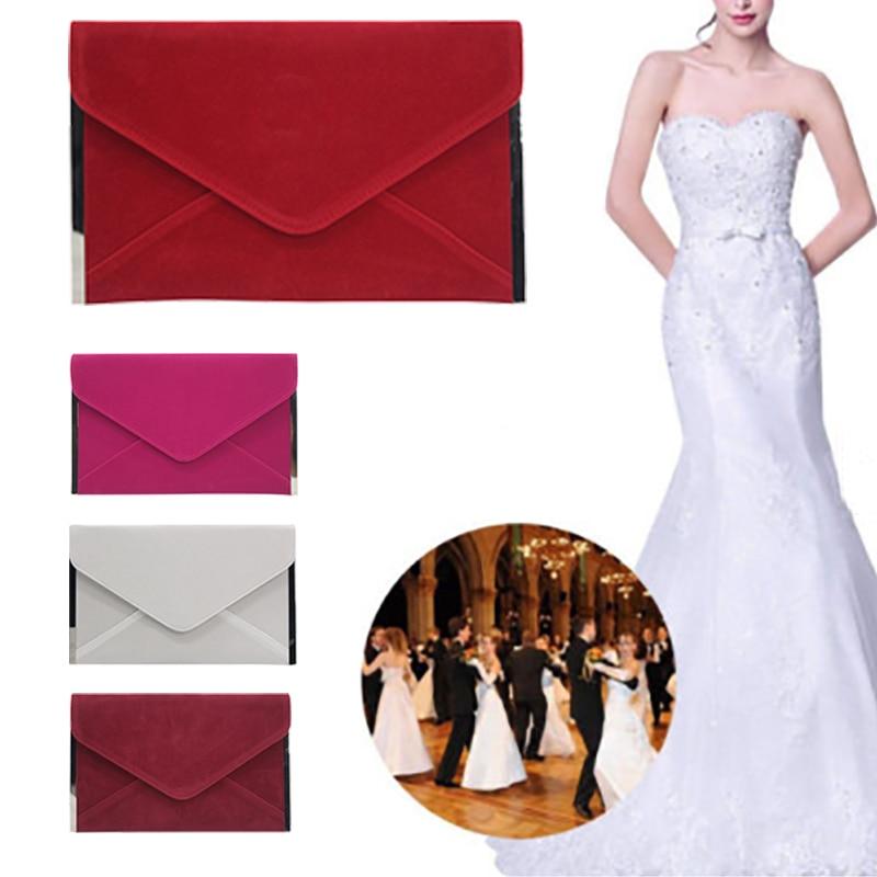 New 2019 Lady Evening Clutch Bag  Metallic Envelope Wallet Purse Wedding  Cocktail Party Purse Party Banquet Women Chain Bag