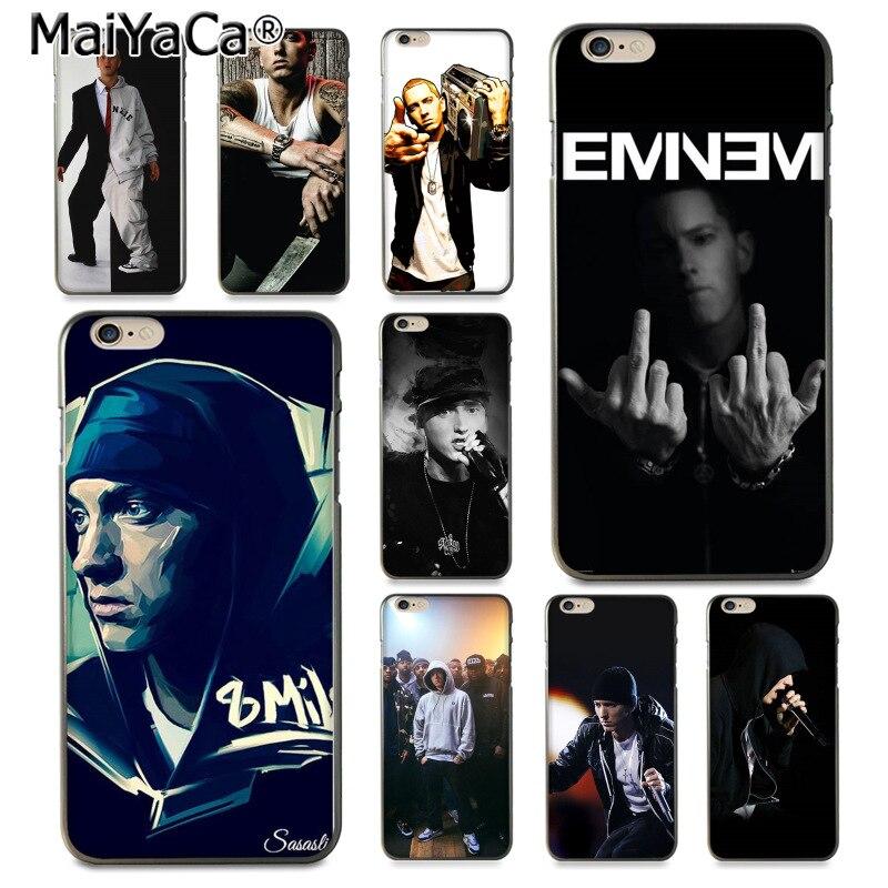 MaiYaCa Hip Hop rapero Eminem rap impresión de la caja de los accesorios del teléfono 8 7 para iPhone 6 Plus X XS X XR XSMax 5 5S SE Coque Shell
