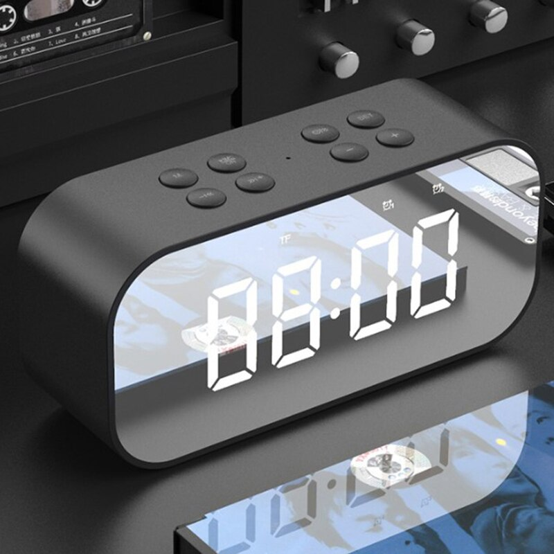 HFES AEC BT501 altavoz inalámbrico portátil con Bluetooth Subwoofer de columna caja de sonido de música LED hora despertador para ordenador portátil