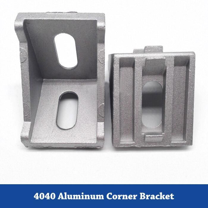 Soporte angular de aluminio de esquina 4040 para extrusión de perfil de aluminio 4040 Serie L soporte conector