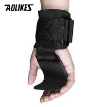 AOLIKES 1 Çifti Spor Kilo kaldırma kancası Eğitim Spor Sapları Sapanlar Bilek Desteği Ağırlıkları Güç dambıl kanca halter