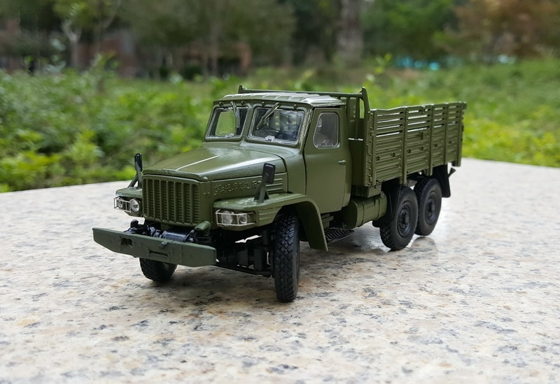 Alloy Model Gift 1:43 Scale  Dongfeng EQ240 Off-road Military Truck Vehicle Diecast Toy Model For Collection,Decoration alloy model 1 24 scale kinglong higer bev pure electric transit bus vehicle diecast toy model for collection decoration