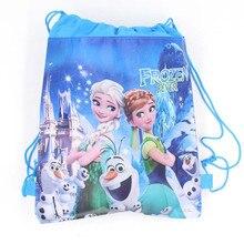 10pcs High Quality Disney Frozen Drawstring Bags Elsa&Anna Kids Travel Pouch Storage Clothes Shoes B