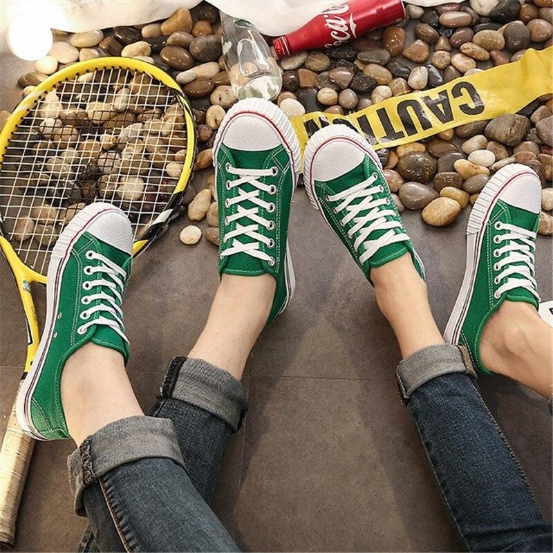Women Canvas Shoes Women Vulcanize Shoes Lace Up Casual Board Shoes Women Sneakers Boys Girls Studen