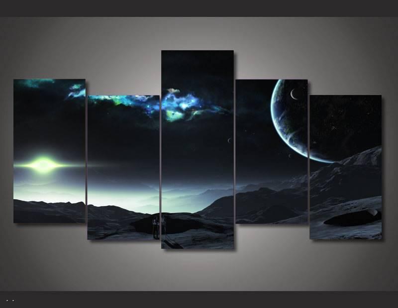 Universo impreso Hd pintura de Planeta de decoración de la habitación de impresión cartel foto lienzo envío gratuito/90920