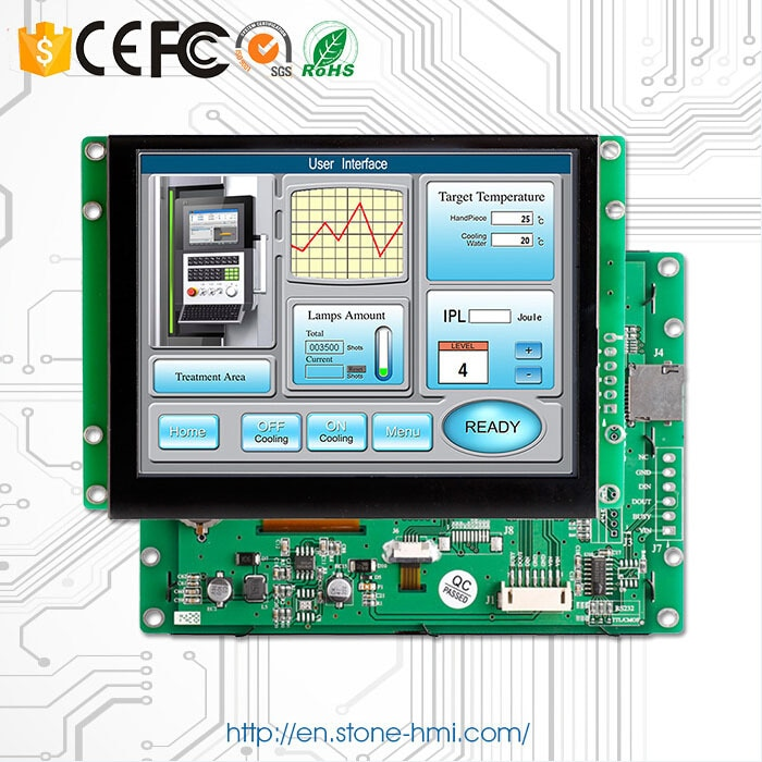10.1 Inch TFT LCD Touch Screen Panel With UART Control Panel