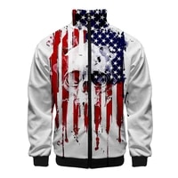 usa jacket america sweatshirt independence day slim fit windbreaker men slim fit zipper fashion casual jacket windbreaker 2020