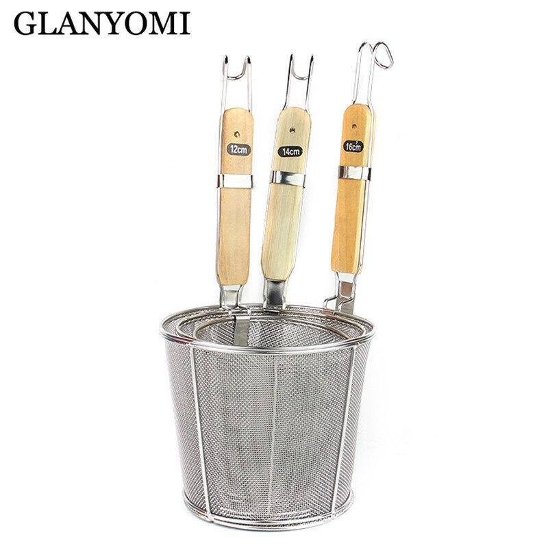 Colador de cesta de freír de acero inoxidable freidora de cocina coladores cesta de Chef colador de fregadero