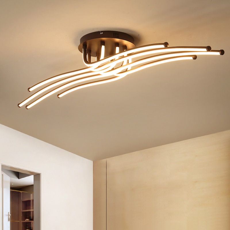 ¡Novedad! Luces de techo Led modernas RC para sala de estar dormitorio estudio sala de café Color de techo regulable lámparas