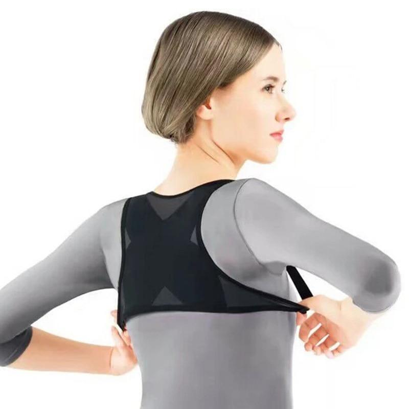 Damen Erwachsene Einstellbare Haltung Corrector Brace Net Atmungsaktive Rücken Wirbelsäule Unterstützung Gürtel Buckel Schulter Haltung Korrektur Gürtel