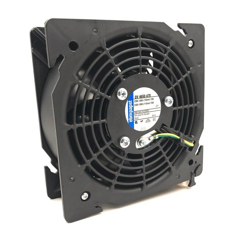 Новый оригинальный вентилятор охлаждения для шкафа, ebm для папста, DV4650-470, DV 4650-470, 230-50 Гц, 110 мА/120 мА, 18 Вт/19 Вт
