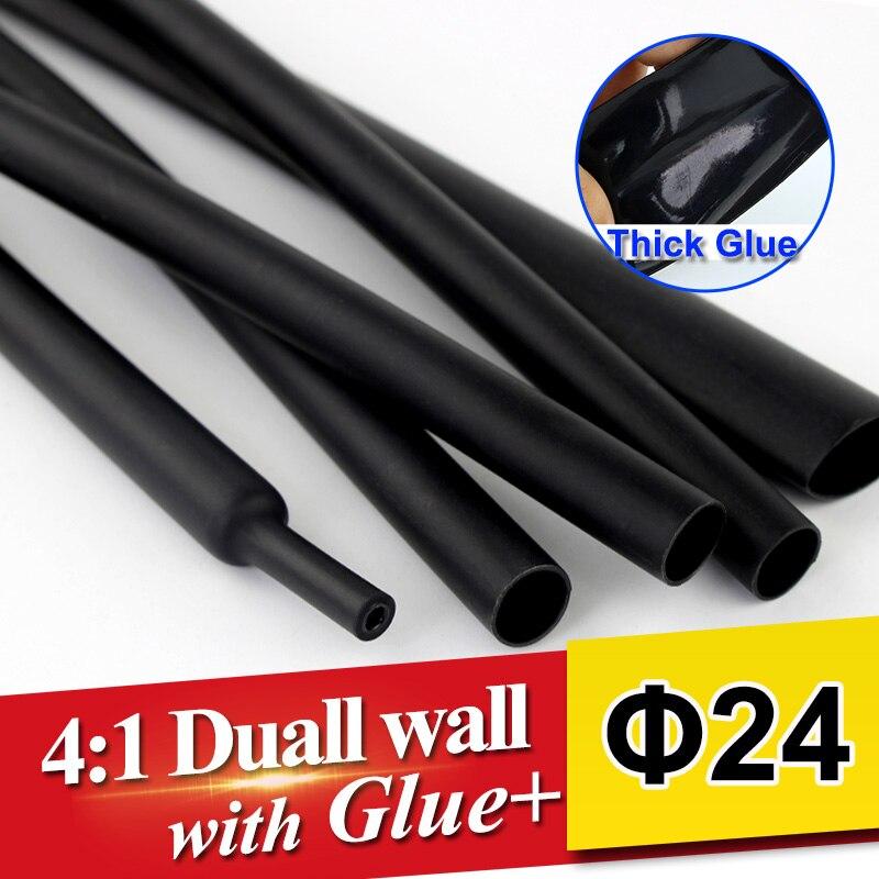 1,22 metros/lote 24mm 41 Tubo termorretráctil tubo de doble pared con pegamento grueso adhesivo termorretráctil forrado funda envoltura Cable kit