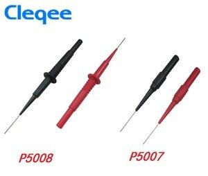 NEW Cleqee P5007 P5008 2pcs Insulation Piercing Needle Non-destructive Multimeter Test Probes Red/Black