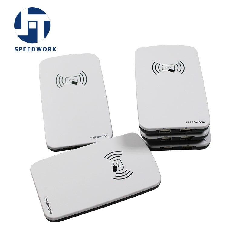860-868MHZ سطح المكتب USB UHF قارئ رفيد الكاتب ISO18000 6C GEN2 بطاقة وعلامة الكاتب قارئ رفيد ملفات SDK الحرة