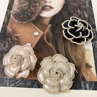 new luxury brand design style flowers pearl pins brooches flower broche broach jewlery for women