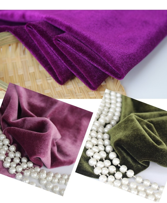 Tela plisada para Material de costura hecho a mano DIY sofá Mesa almohada zapato bolsa vestido ropa fiesta boda cumpleaños decroación