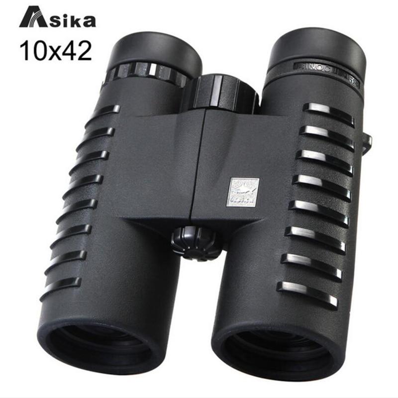 Asika Military HD 10x42 Binoculars Professional Waterproof Bak4 Prism Telescope High Quality Lll Night Vision For Hunting