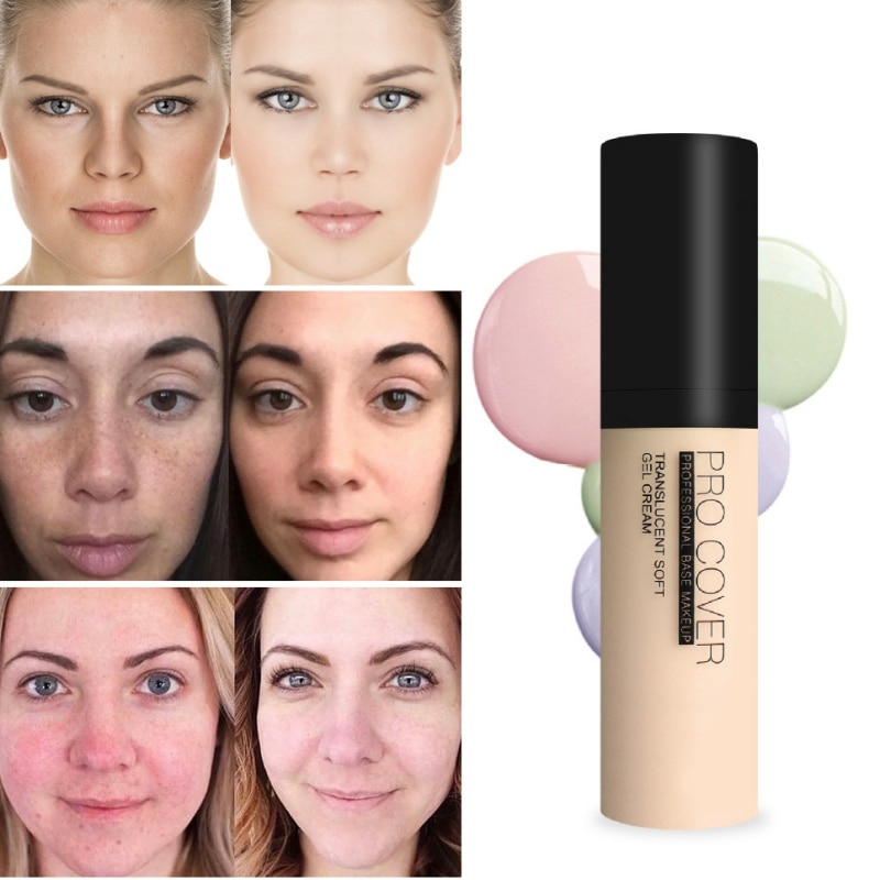 Corrector protector solar largo cosmético base duradera esencia Invisible poros base de maquillaje líquido maquillaje P1