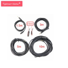 1.5M/3M/5M/10M 3.5mm Jack M/F Audio Extension Cable Power Cord Male to Female Power Cords Black Ster