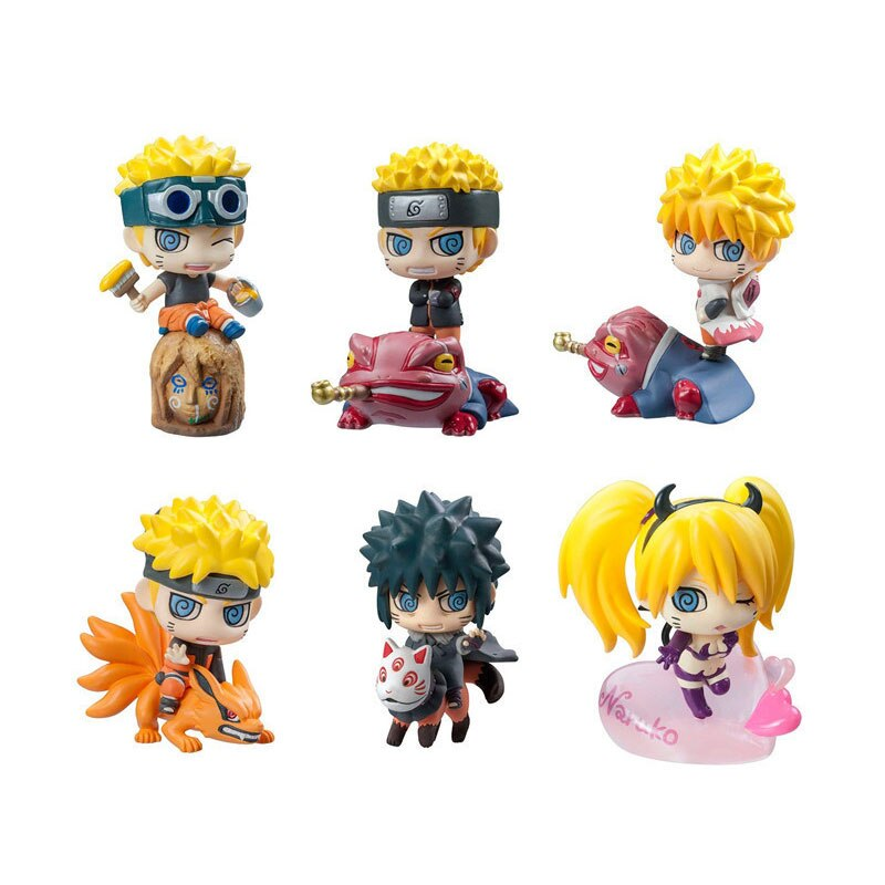 6 unids/set película anime Naruto Sasuke Uzumaki Kakashi Gaara figuras de acción PVC colecciones regalos juguetes para niños