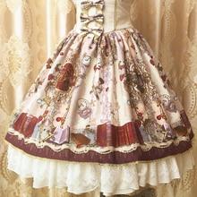 Doux classique Design Original Lolita jupe Vintage Palace Triple noeud cordon femmes mignon dentelle volants ourlet en mousseline de soie jupes V110