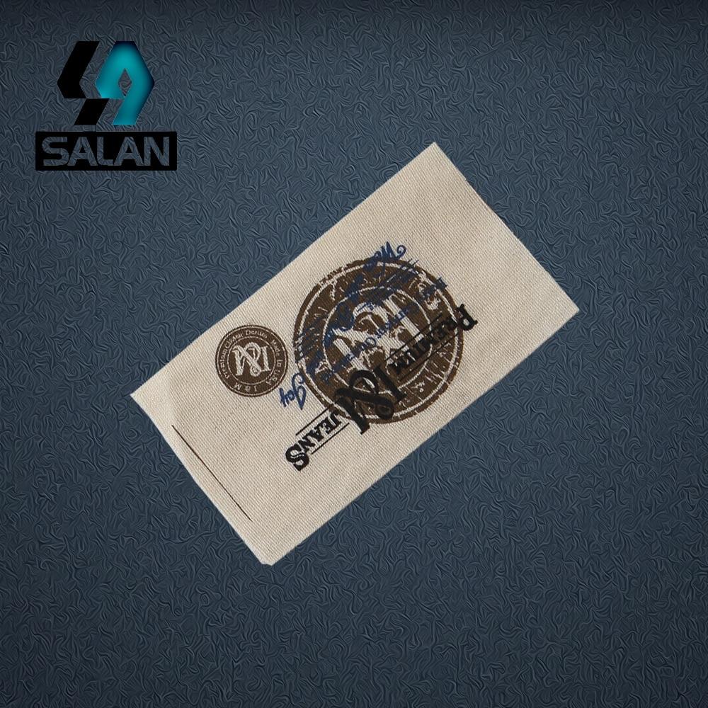 Etiquetas de ropa personalizadas impresas Etiqueta de algodón marca comercial fabricación de prendas tejidas e impresas etiquetas envío gratis
