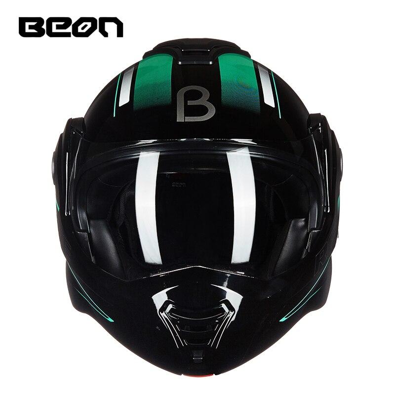 BEON Moto rcycle filp up шлем с двойными линзами capacete moto cross casco moto casque moto vintage 702