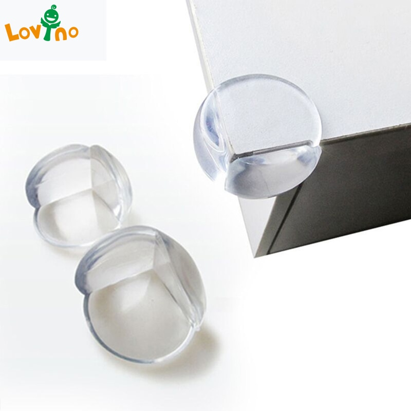 20/30pcs/lot Rubber Ball Transparent L Shape Baby Safety Silicone Corner Protector Kids Soft Clear T