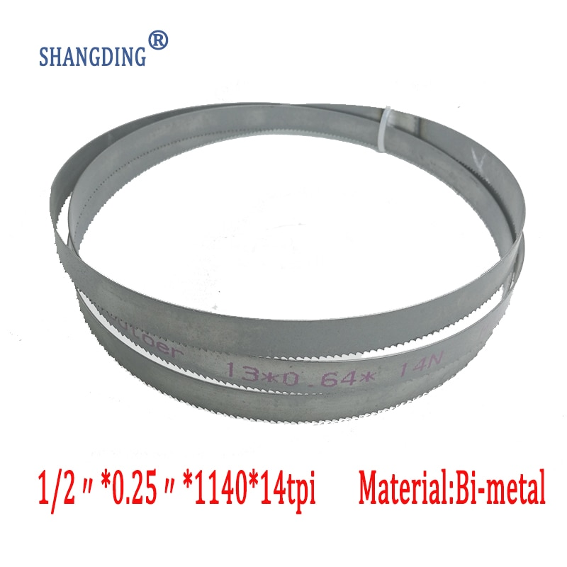 "Alta calidad 44,9 ""x 1/2"" x 0,25 ""x 14tpi o 1140*13*0,65*14 tpimetalokin nuevo durable bi metal corte banda hoja de sierra mejor precio"