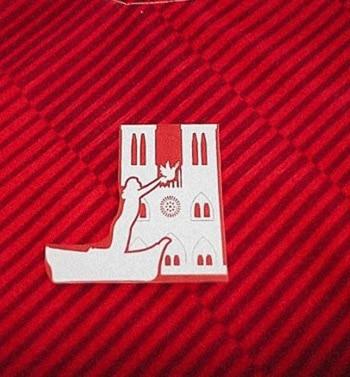 2019 Ligue 1 parche de Notre DAME Sainte-dedicate parche de transferencia de calor insignia de fútbol