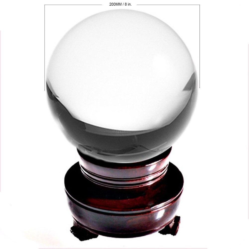 Navio dos EUA 200mm Rare Asian Quartzo Claro bola feng shui Bola Esfera de Cristal De Moda Decoração de Mesa Boa Sorte bola Frete Grátis